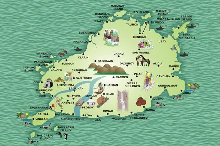 Bohol island map
