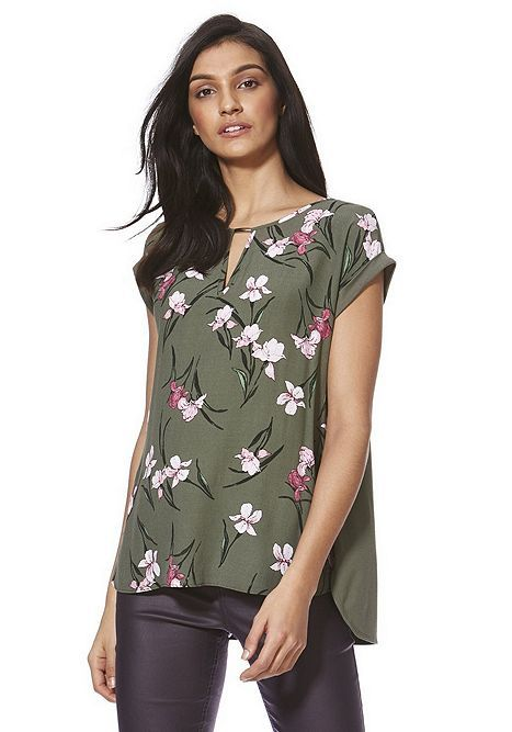 Tesco direct: F&F Floral Front Jersey Back Top