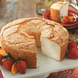 Best Angel Food Cake- definitely top with strawberries