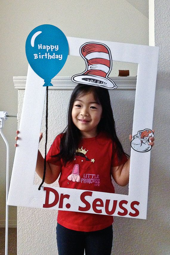 Dr. Seuss photo prop frame by PhotoPropFrame on Etsy