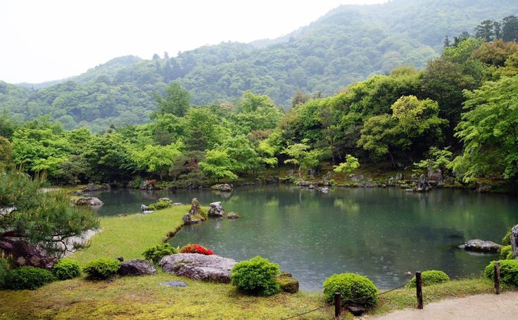 """Located in the Arashiyama (嵐山) district in Kyoto, Japan, Tenryu-ji Zen Temple (天龍寺 or """"Temple of the Celestial Dragon"""") with its beautiful landscape garden, Sogenchi Garden, is a must-g…"""
