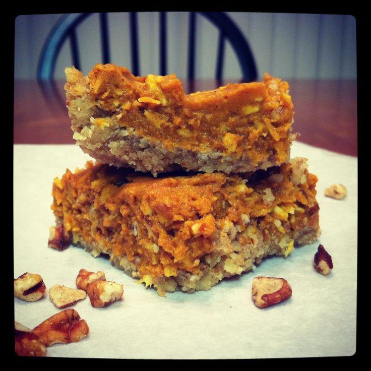 Pumpkin Bars and more of the best paleo pumpkin recipes on MyNaturalFamily.com #paleo #pumpkin #recipe