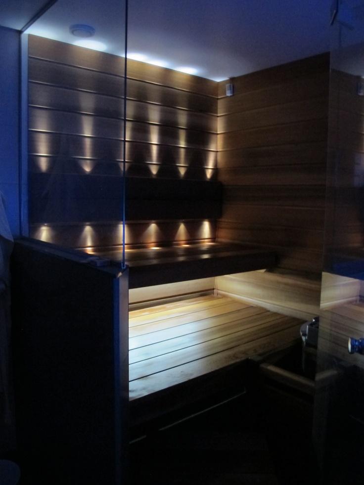 Sauna lighting, saunan katto valkoinen!!!