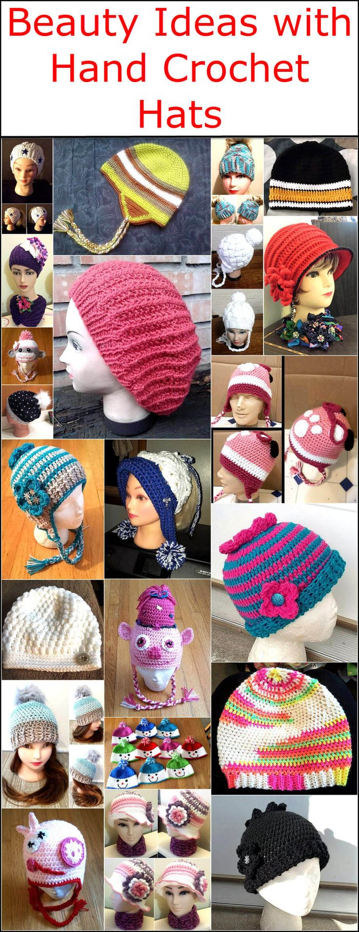 Beauty Ideas with Hand Crochet Hats – Crochet and knitting