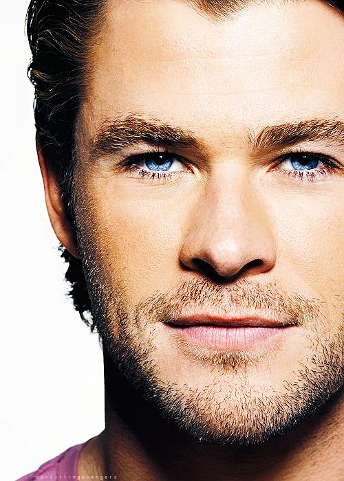 Chris Hemsworth. Them eyes though. So pretty.