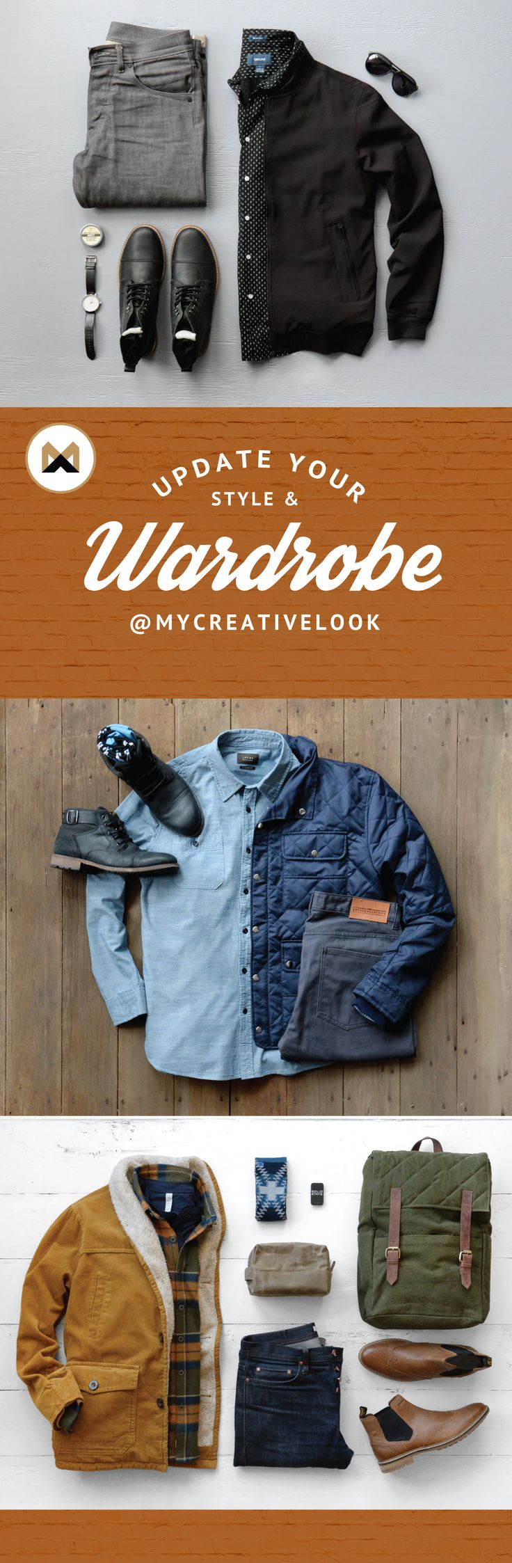 Update Your Style & Wardrobe by checking out Men's collections from MyCreativeLook | Casual Wear | Outfits | Fall Fashion | Boots, Sneakers and more. Visit mycreativelook.com/ #wardrobe #mensfashion #mensstyle #grid #clothinggrids