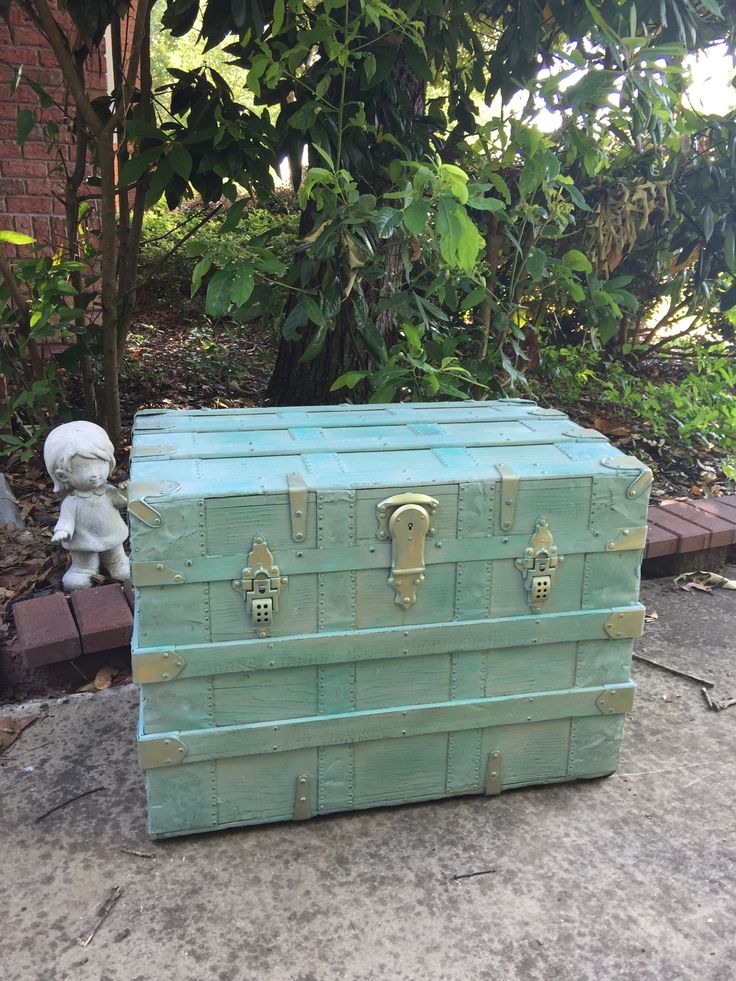 Iron Steamer Trunk/Table