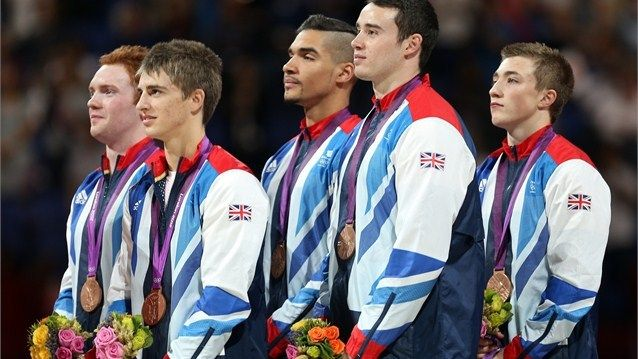 Team GB take bronze medal in Artistic Gymnastics men's team final London 2012 Olympics