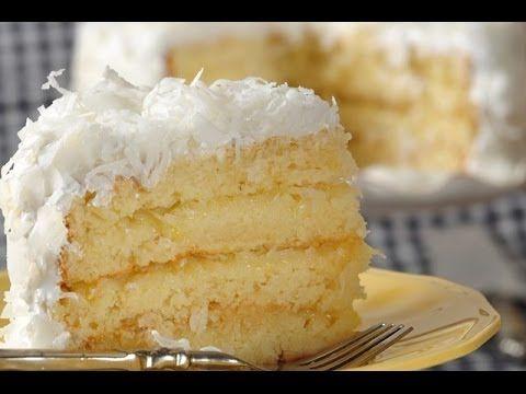 Coconut Cake Recipe Demonstration - Joyofbaking.com - YouTube