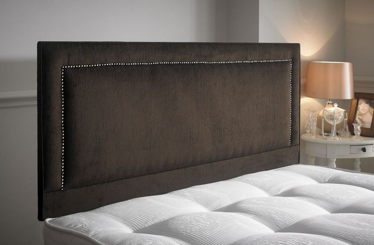 The Maurise headboard is a lovely headboard with its straight sides in the shape of a rectangle with another rectangle on the inside which has studded diamonds.  The smooth fabric is soft and very comfortable. It is a stylish headboard which is a real great price. It is available in all sizes, leathers and fabrics. http://www.chicconcept.co.uk/5249-maurise-5055157622971.html