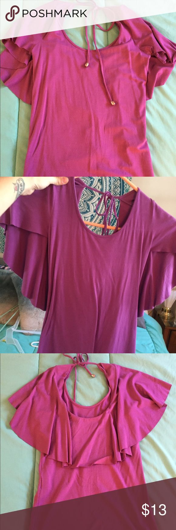 NWOT Armani Exchange shirt NWOT and NEVER been worn Armani Exchange Blouse. Beautiful purple color and the material is soft and stretchy! Ask me questions!!💕 A/X Armani Exchange Tops