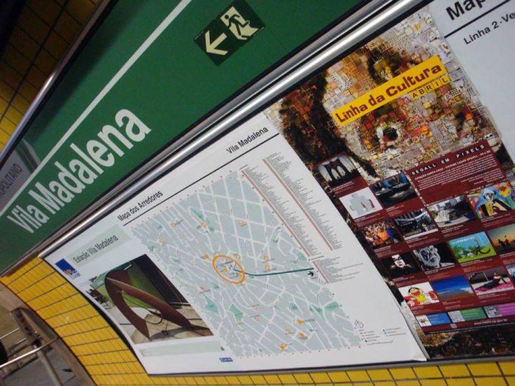 Cartaz do mês de Abril - 2015. Estação Vila Madalena.