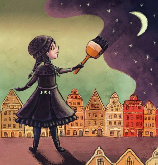 Lady Night is painting the sky, Marzena Stanislawska on ArtStation at https://www.artstation.com/artwork/mOoQY
