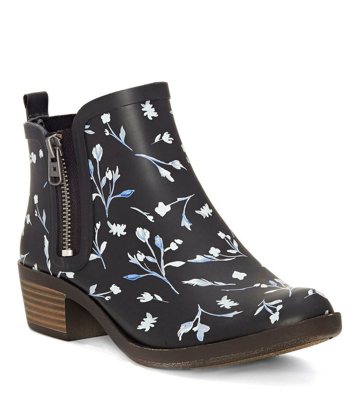 Lucky Brand Basel Waterproof Floral Pattern Rain Booties #Dillards