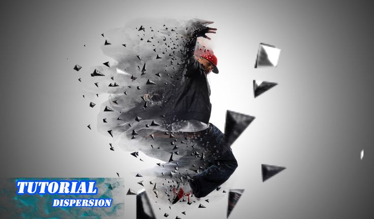 Photoshop tutorial dispersion effect