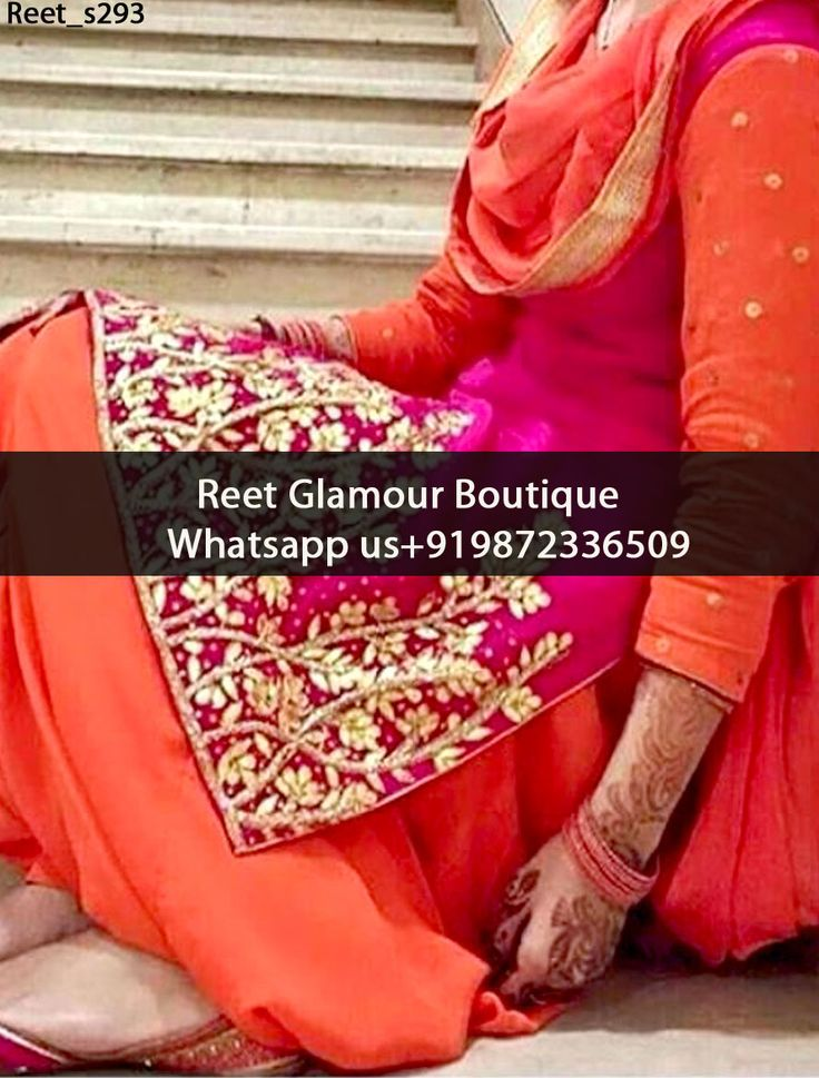 Splendid Magenta And Orange Embroidered Punjabi Suit Product Code : Reet_s293 To Order, Call/Whats app On +919872336509 We Offer Huge Variety Of Punjabi Suits, Anarkali Suits, Lehenga Choli, Bridal Suits,Sari, Gowns Etc .We Can Also Design Any Suit Of Your Own Design And Any Color Combination.
