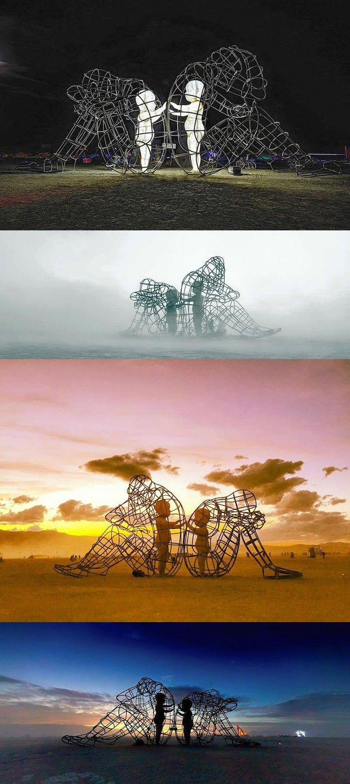 Ukrainian artist Alexander Milov delighted Burning Man's festival-goers with a piece that allowed them to reconnect with their inner child.