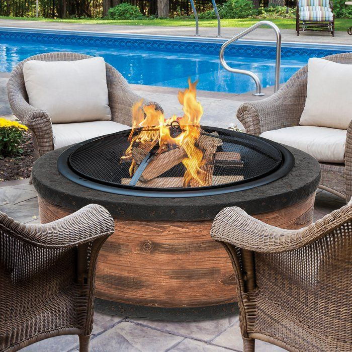 Fire Up. Fire Joe is an ideal outdoor centerpiece for keeping family and friends warm and entertained outdoors when the temperatures start to drop. Safely enjoy the fire pit experience with the included wire mesh screen, which protects against flying sparks while providing an open view of the fire. to add or adjust logs as needed. Boasting a durable and visually appealing steel base, Fire Joe adds a sophisticated touch to any outdoor decor.
