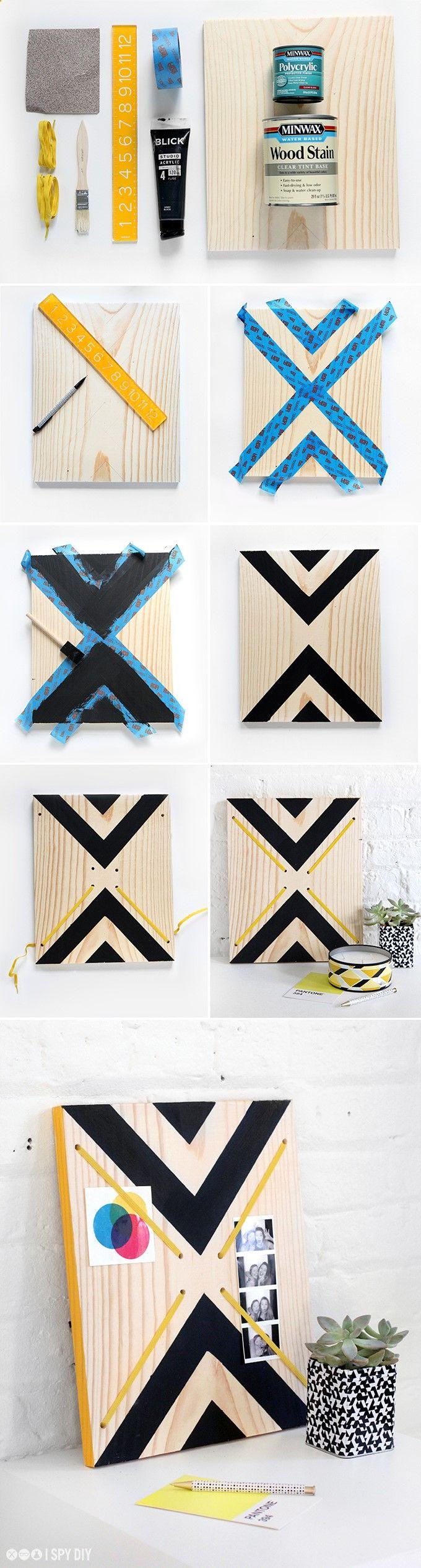 DIY Bois : Tableau en bois. Réalisez simplement votre tableau en bois. Utilisez de la peinture acrylique qui a une très bonne accroche sur le bois (pour un usage intérieur). Déclinez ce tableau selon le gré de vos envies : plusieurs formes et dessins sont possibles! Gascogne Bois (www.gascognebois....) vous accompagne à faire rentrer le bois dans votre intérieur! Le bois apporte de la chaleur et une touche naturelle à votre déco. #diy #bois #tableau