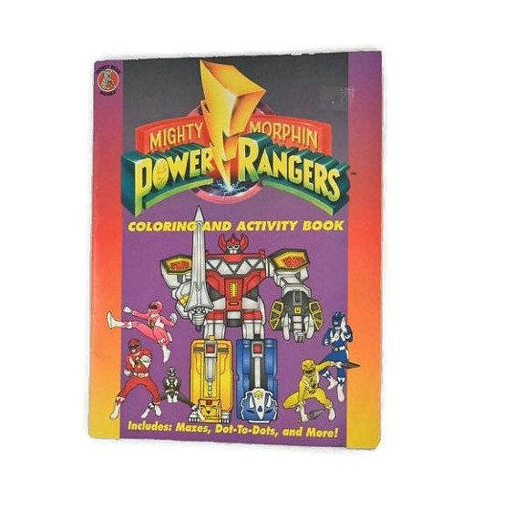 Vintage Mighty Morphin Power Rangers coloring and activity book.  1994 copyright by Saban Entertainment Paperback  27 cm x 20.5 cm 31 pages