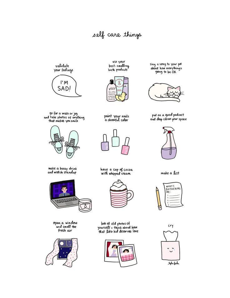 Self Care Print – Hand illustriert – Diy Self Care #illustrated #print   – Diy Self care