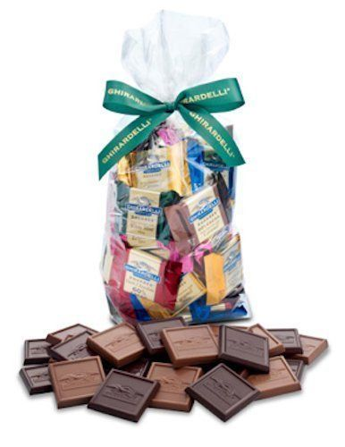 Great Ghirardelli Chocolate Squares Holiday Gift Bag - 80 Count (Decadent Dark), ,
