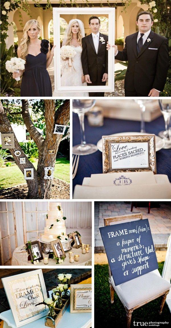 Picture frame theme Wedding The Crosby Rancho Santa Fe: Lace Weddings, Blog Wedding Inspiration, Wedding Ideas, Wedding Stuff, Navy Weddings, Wedding Blog, Dream Wedding, Picture Frames, Frame Theme