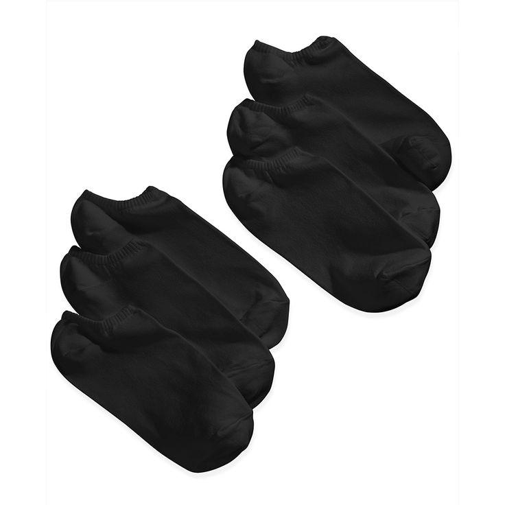 HUE Womens 6-Pack Microfiber Liner Socks U2478 [$15.00]   Hosiery and More
