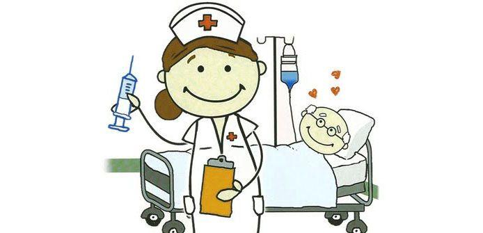 Enfermera. caricaturas de enfermeras graciosas