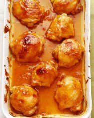 Orange glazed chicken