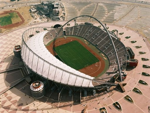 Khalifa International Stadium in Doha (Qatar): Football, Stadium, De Qatar, 2022 Qatar, East Qatar, Football Stadiums, Estadios De, Doha Qatar, Architecture Football