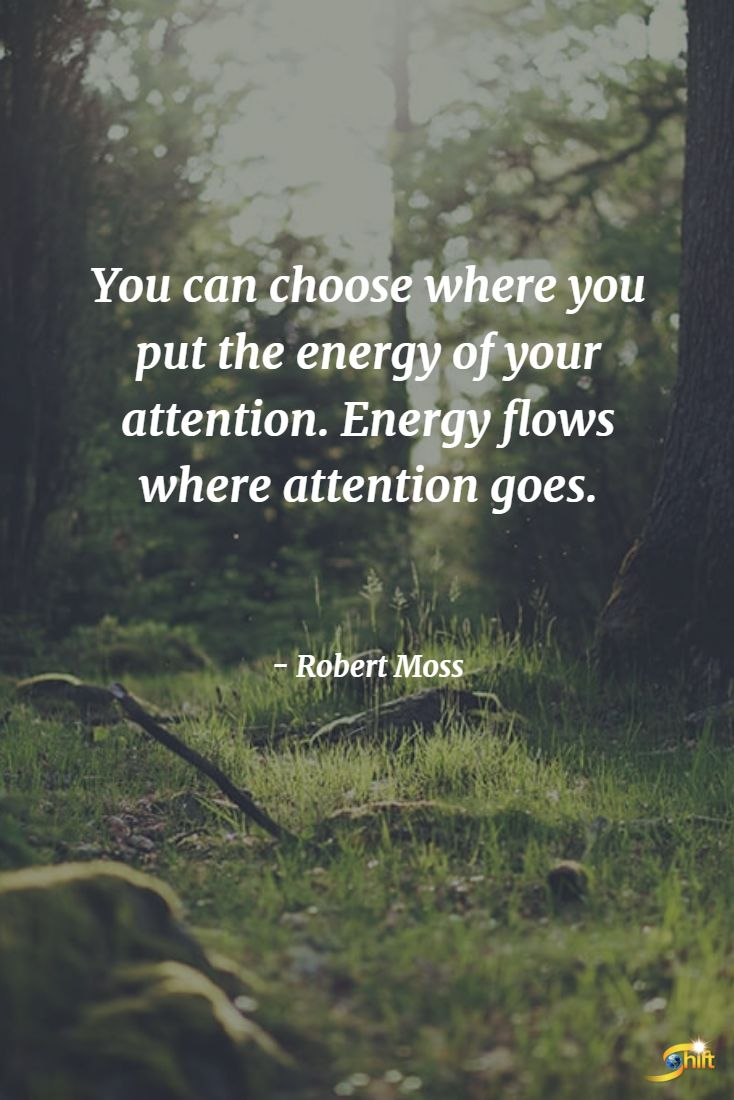 you can choose where you put the energy of your attention. energy flows where attention goes.