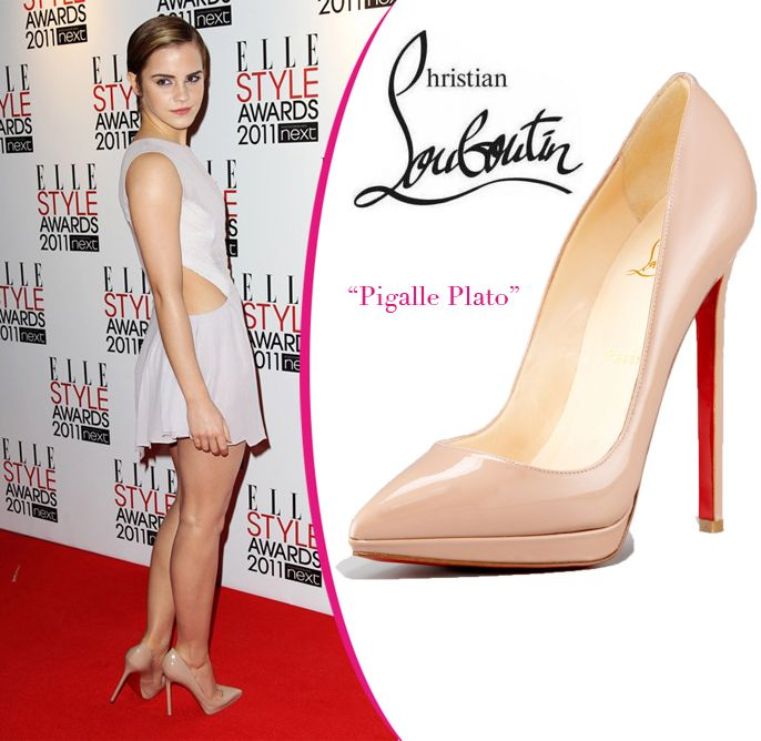 Emma Watson in Christian Louboutin Pigalle Plato pumps. | Sexy ...