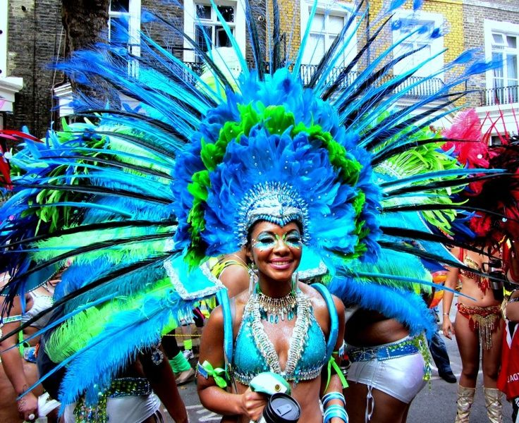 NOTTING HILL CARNIVAL  Coloured fabrics & vibrant music. The largest street festival in Europe (first in1964) as a way for Afro-Caribbean communities to celebrate their cultures.  August Bank Holiday, the carnival is an amazing array of sounds, sights & social solidarity. The Caribbean carnivals of the early 19th century were about celebrating the abolition of the slave trade.  The costumes mimic the European fashions of their former masters - the tradition continues in today's…