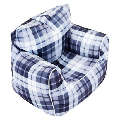 Boys Bean Bag Chair With Piping Grey Plaid Target Mobile