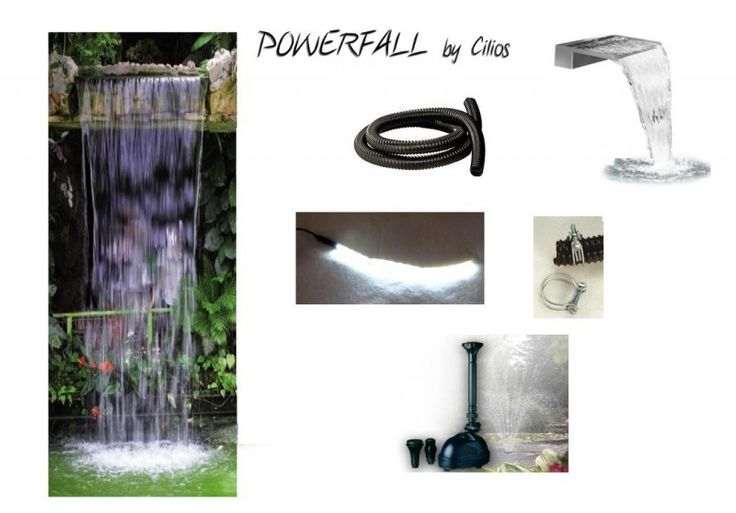 PowerFall waterfall kit Eco 90cm waterfall set to about 1,5 0 m head
