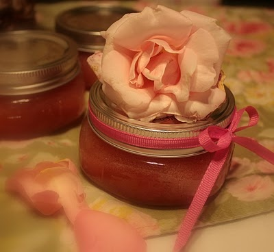 Rose Petal Jam   makes great hostess gift    1/2 pound pink or red or white (they are all edible) rose petals   2 cups sugar   4 1/2 cups water   Juice of 2 lemons, pips or seeds removed  Wash them and then cut off the white bottom of each petal.   Soak the petals in water for three days. This is optional  Place the rose petals into a bowl and sprinkle the sugar over them to make sure that each petal is coated. Bruise them well with your fingers and cover the bowl with plastic film.[4] Allow…