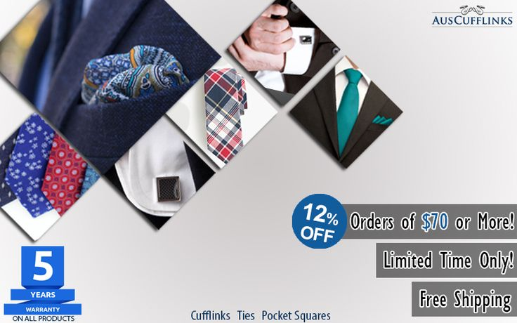 Hello Guys! Need an easier way to enhance your looks. Check out our trendiest men's accessories range at http://auscufflinks.com.au/  Get 12% OFF, orders above $70.  #mencufflinks #menties #menpocketsquares #menaccessories #auscufflinks