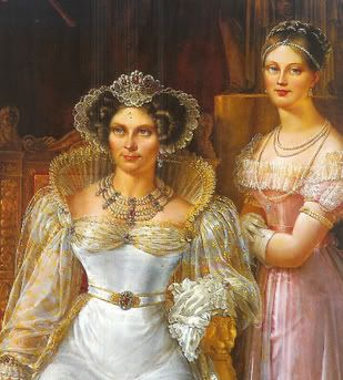 Princess Marianne (1810-1883) and her mother, Queen Wilhelmina, around 1830