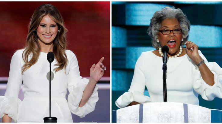 Melania Trump and U.S. Rep. Joyce Beatty