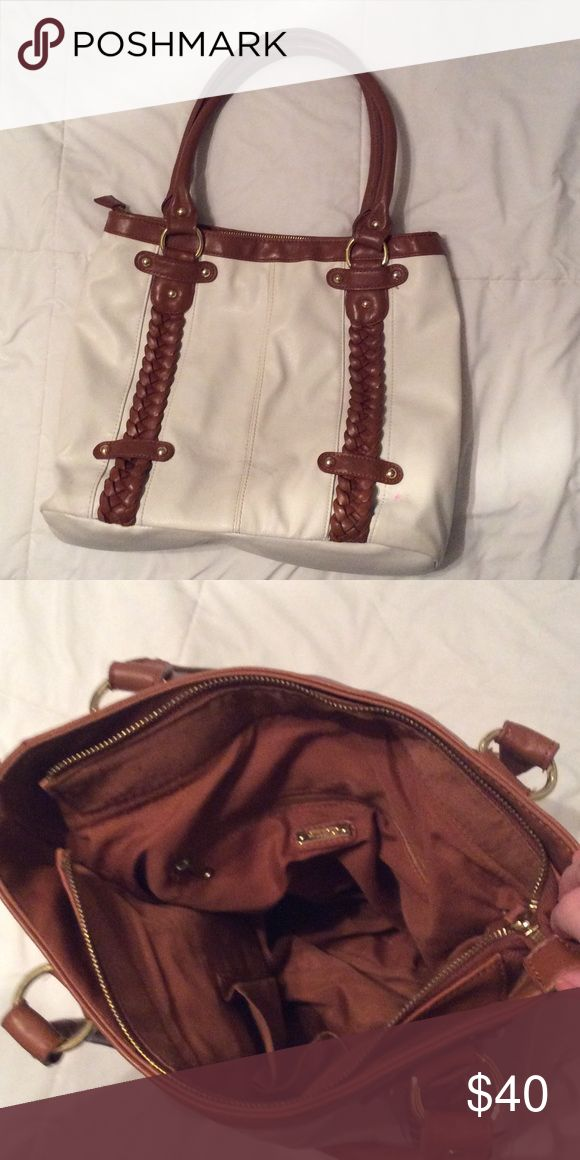 Large white and tan Aldo bag Good condition, used, some spots. Aldo Bags