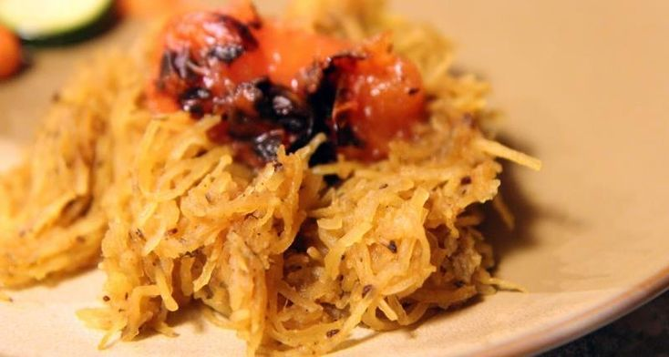 Gojee - Roasted Spaghetti Squash with Blistered Tomatoes, Brown Butter and Herbs by And then I cooked