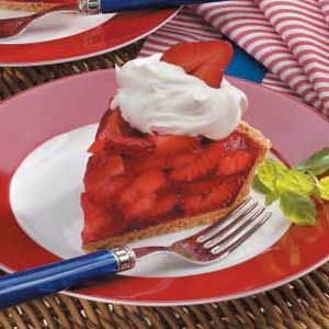 Strawberry Pie Recipe.  Yay!  Strawberries are in season now!