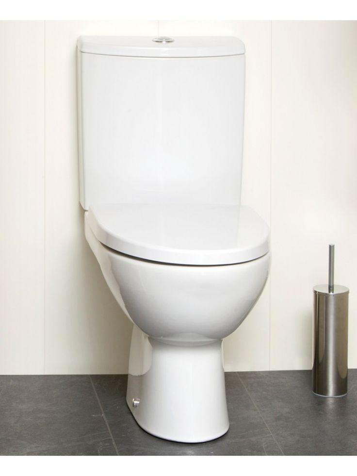 Parva Close Coupled Toilet & Soft Close Seat - Short Projection 615mm - WC
