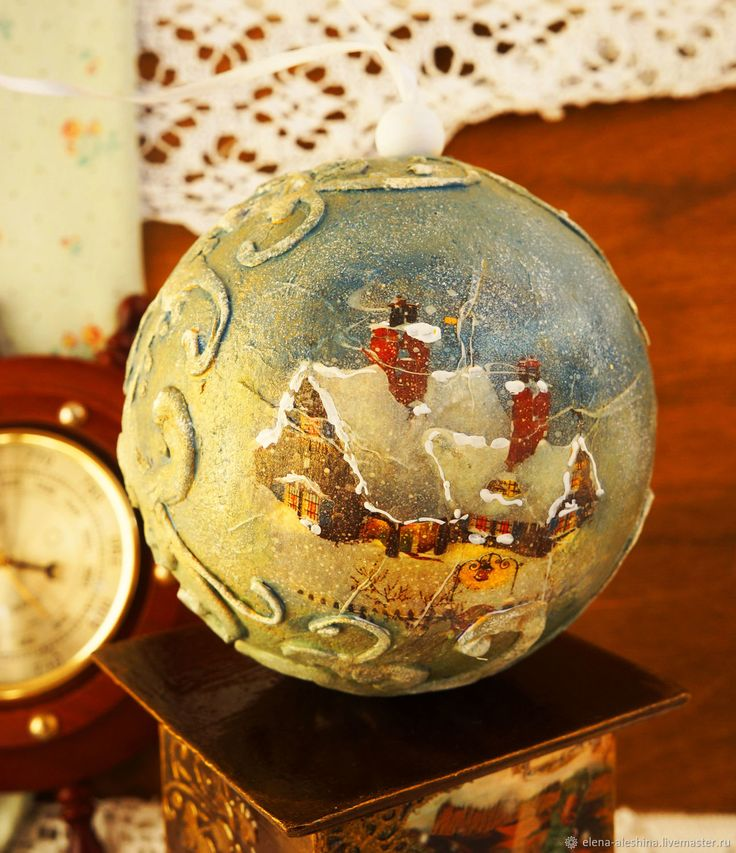 Купить Большой Новогодний шар - тёмно-синий, шар новогодний, новогодний декор, елочный шар