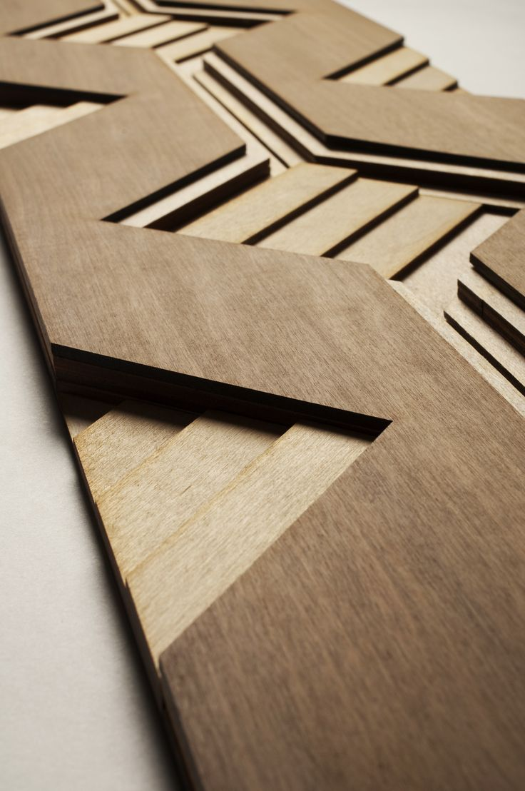 Atelier Anthony Roussel. Carré wood tile, collection 01. Walnut & birch wood. #wood #surfacedesign #3dsurfacedesign #anthonyroussel #panelling #paneling #tile #woodtile #atelieranthonyroussel