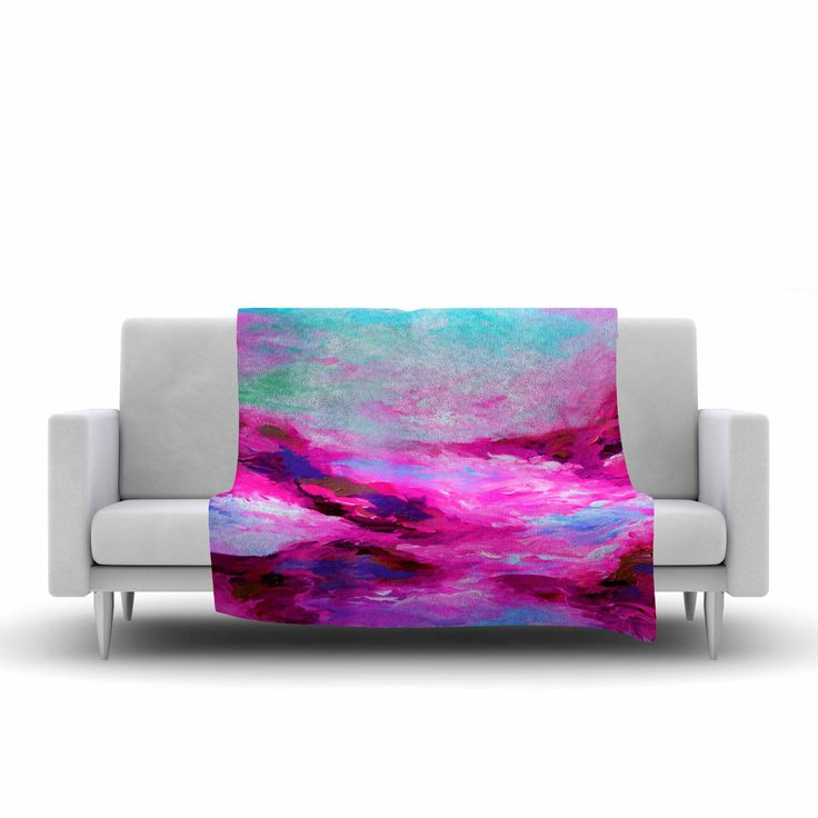 "Ebi Emporium ""Taken By The Undertow 4"" Pink Magenta Fleece Throw Blanket"