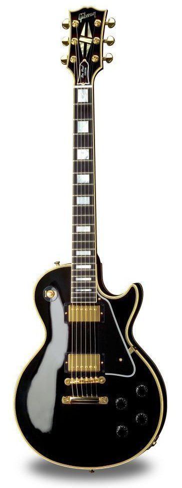 Gibson Les Paul Custom!! My original heart throb!!  I used to obsess over this guitar sooooo much! I know black is technically a shade but gold is definitly a colour. This is beautiful!