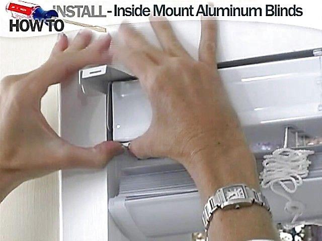 How to Install Aluminum Blinds Video - Inside Mount - Blinds.com ...