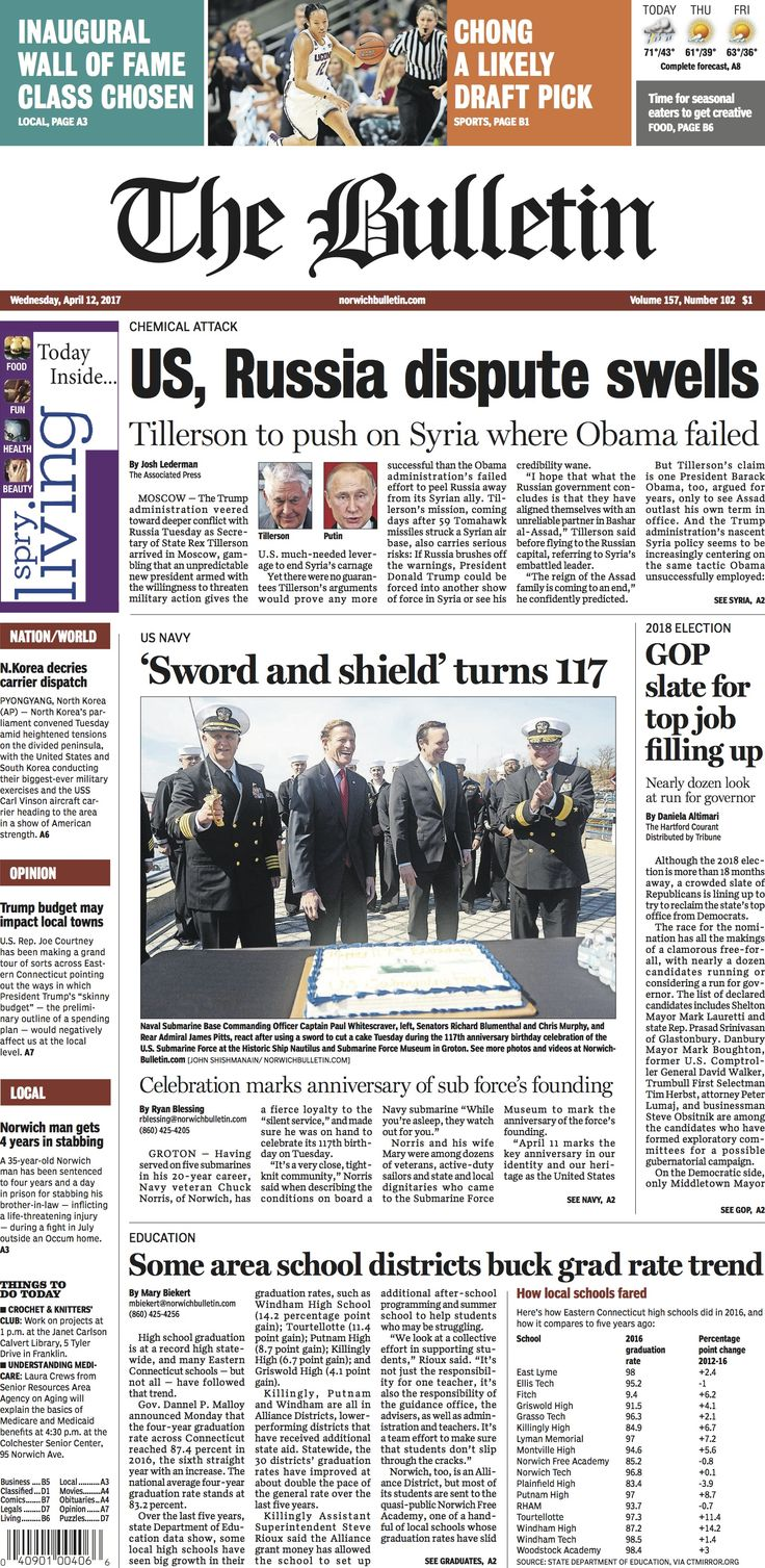 Wednesday, April 12, 2017 - Subscribe to The Bulletin today: http://www.norwichbulletin.com #ctnews #newlondoncounty #windhamcounty